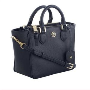 Tory Burch Robinson Pebbled Mini Square Tote Bag